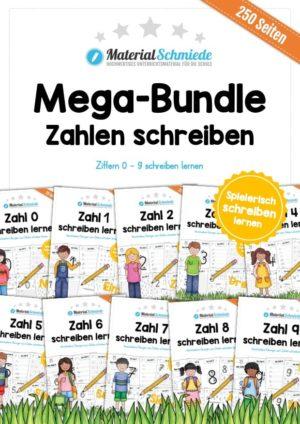 Mega-Bundle: Zahlen schreiben lernen (250 Arbeitsblätter)