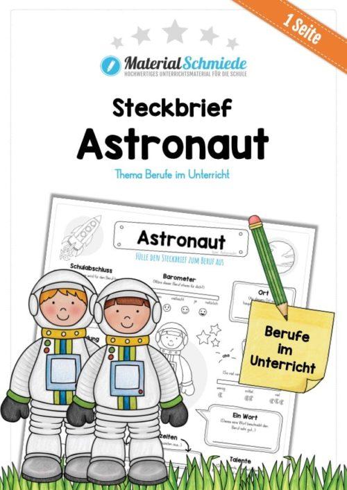 Steckbrief Astronaut