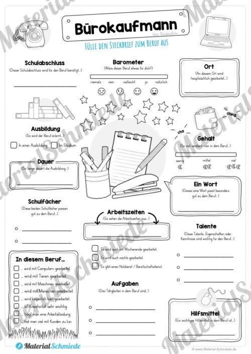 Steckbrief Bürokaufmann / Bürokauffrau (Vorschau)