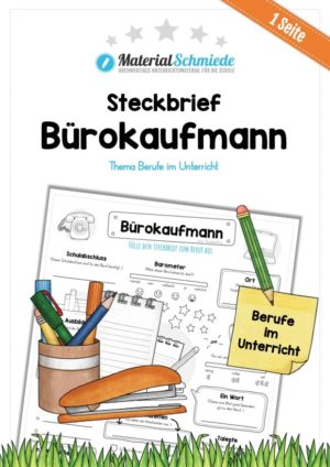 Steckbrief Bürokaufmann / Bürokauffrau
