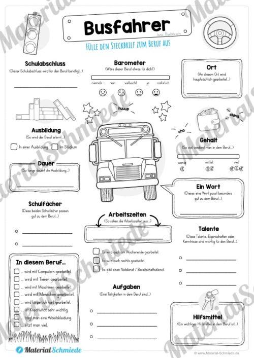 Steckbrief Busfahrer (Vorschau)