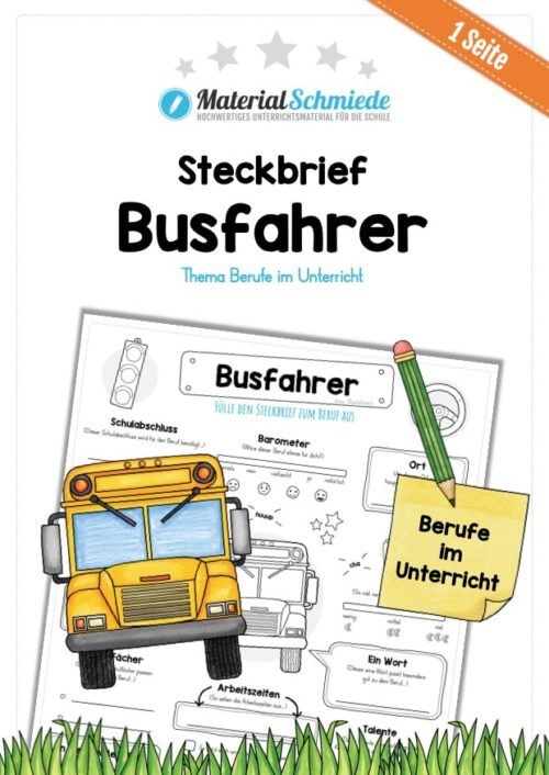Steckbrief Busfahrer