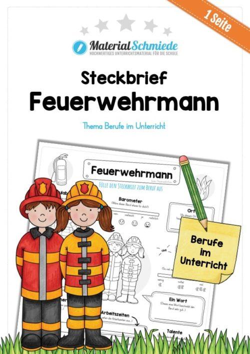 Steckbrief Feuerwehrmann