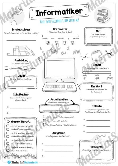 Steckbrief Informatiker (Vorschau)