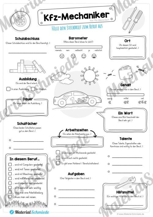 Steckbrief Kfz-Mechaniker (Vorschau)