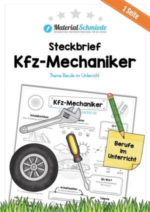Steckbrief Kfz-Mechaniker