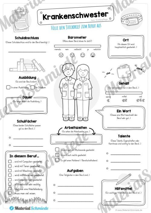 Steckbrief Krankenschwester (Vorschau)