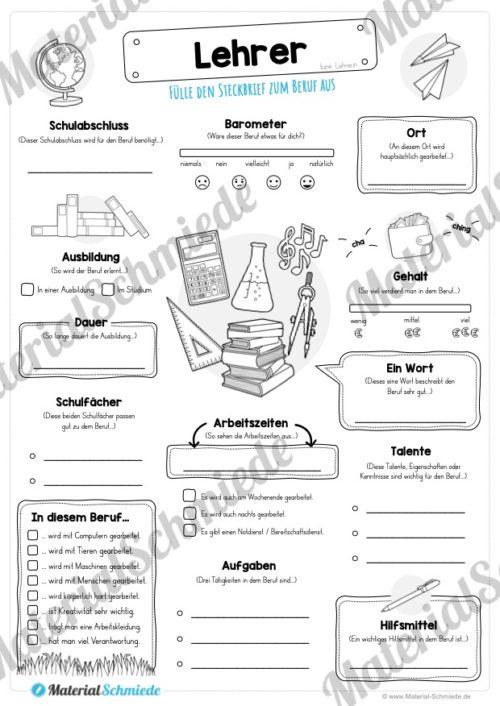 Steckbrief Beruf: Lehrer (Vorschau)