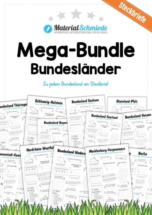Mega-Bundle: Steckbriefe Bundesländer (16 Arbeitsblätter)