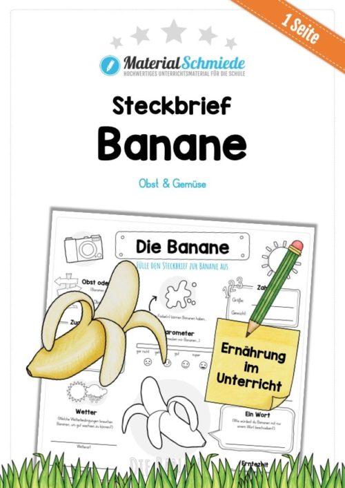 Steckbrief Banane