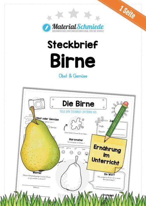 Steckbrief Birne