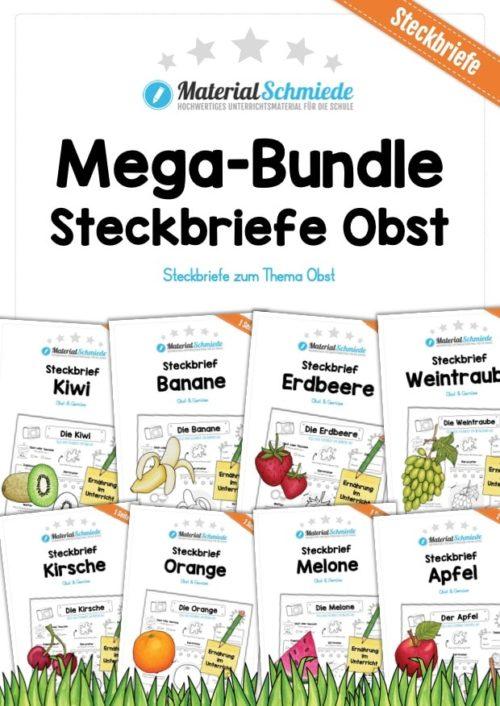 Mega-Bundle: Steckbriefe Obst