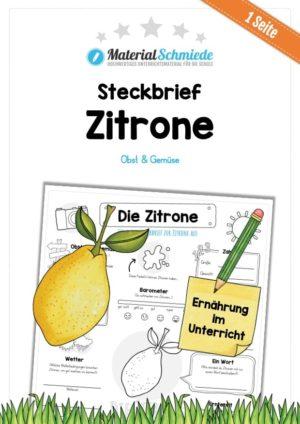 Steckbrief Zitrone