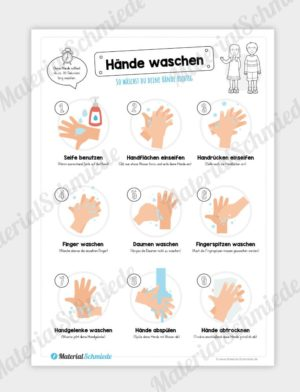 Arbeitsblatt: Hände waschen