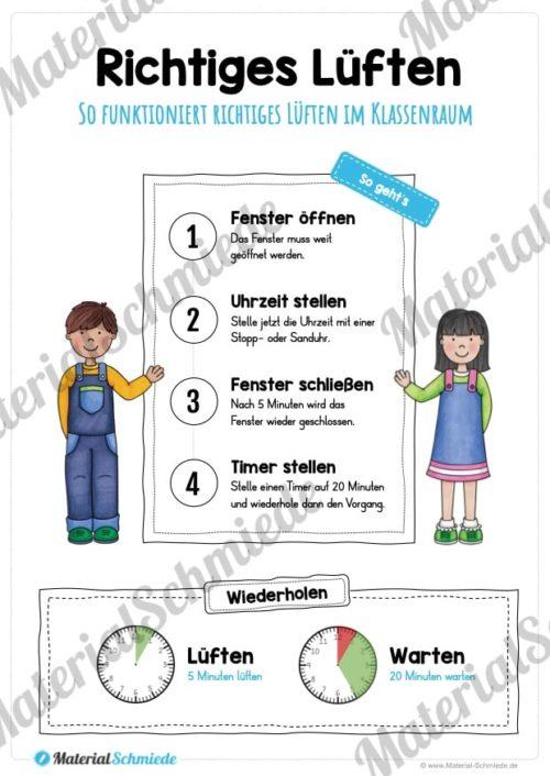 Richtig Lüften: Plakat für die Schule