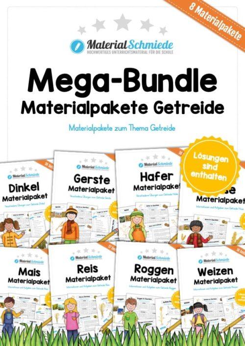 Mega-Bundle: 8 Materialpakete Getreide