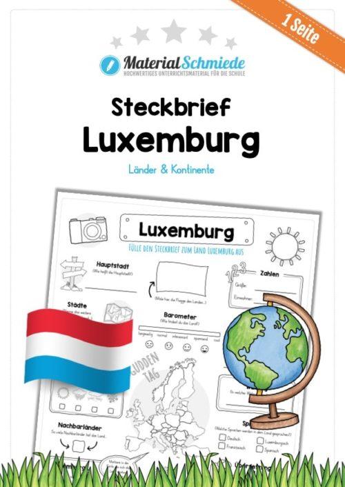 Steckbrief Luxemburg