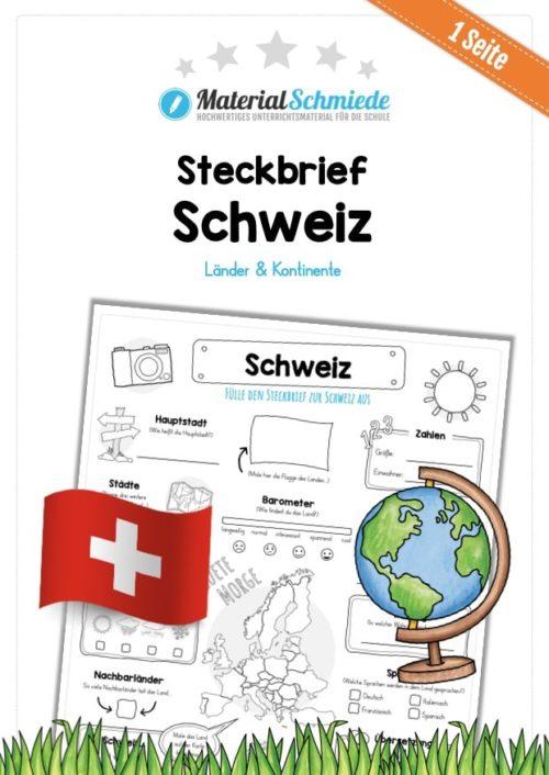 Steckbrief Schweiz