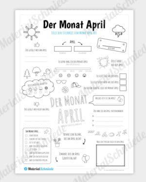 Steckbrief Monat April