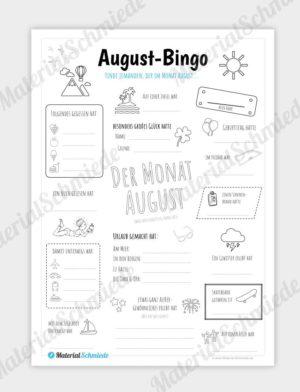 August Bingo