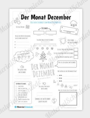 Steckbrief Monat Dezember