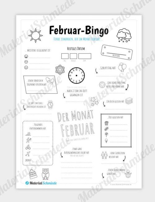 Februar Bingo