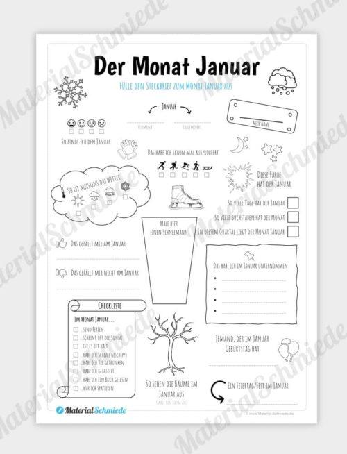 Steckbrief Monat Januar
