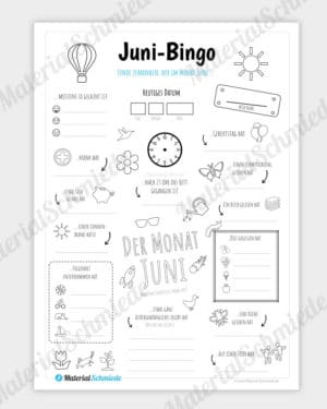 Bingo Monat Juni
