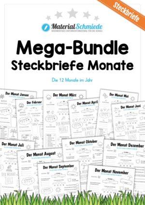 Mega-Bundle: Steckbriefe Monate