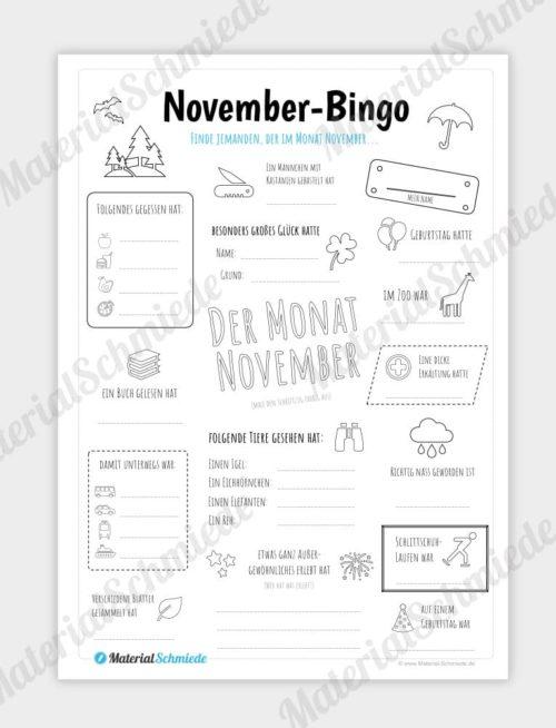 Bingo: Monat November