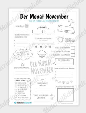 Steckbrief: Monat November