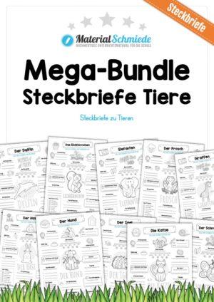 Mega-Bundle: Steckbriefe Tiere