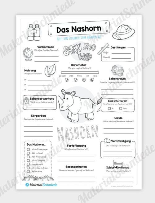 Steckbrief Nashorn
