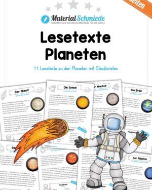 Lesetexte zu den 11 Planeten