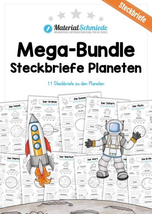 Mega-Bundle: Steckbriefe Planeten (11 Arbeitsblätter)