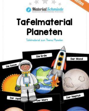 Tafelmaterial Planeten