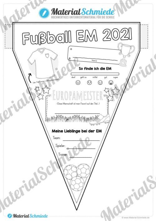Wimpel zur Fußball EM 2021 (Vorschau)