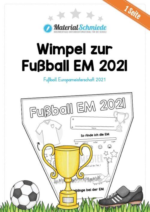 Wimpel zur Fußball EM 2021