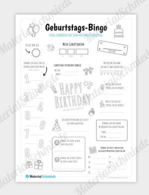 Geburtstags-Bingo