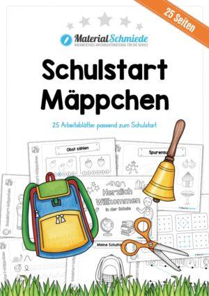 Schulstart Mäppchen - 25 Arbeitsblätter
