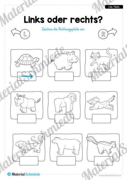 10 Links/Rechts-Übungen für die Vorschule (Vorschau 05)