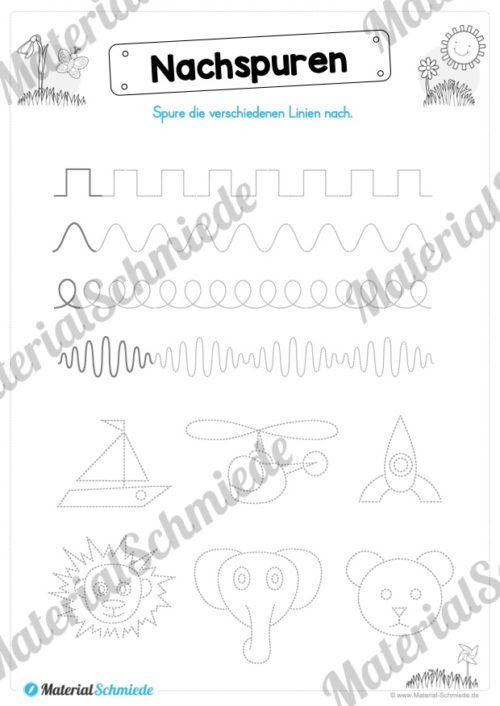MaterialPaket Vorschule - 15 Übungen für Kinder (Vorschau 02)