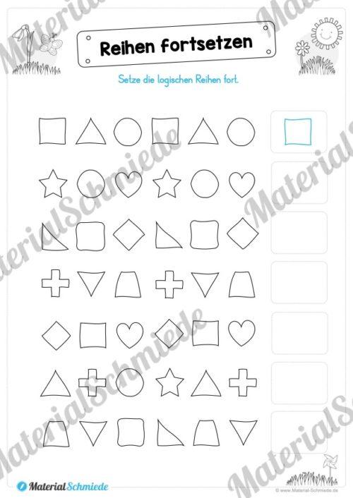 MaterialPaket Vorschule - 15 Übungen für Kinder (Vorschau 04)