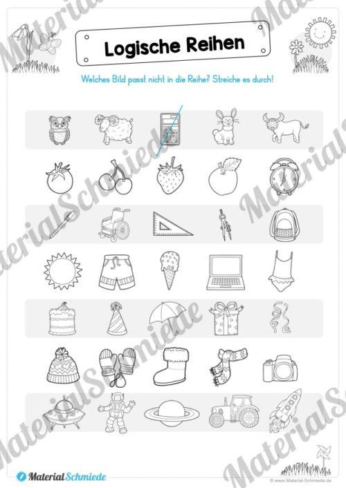 MaterialPaket Vorschule - 15 Übungen für Kinder (Vorschau 09)