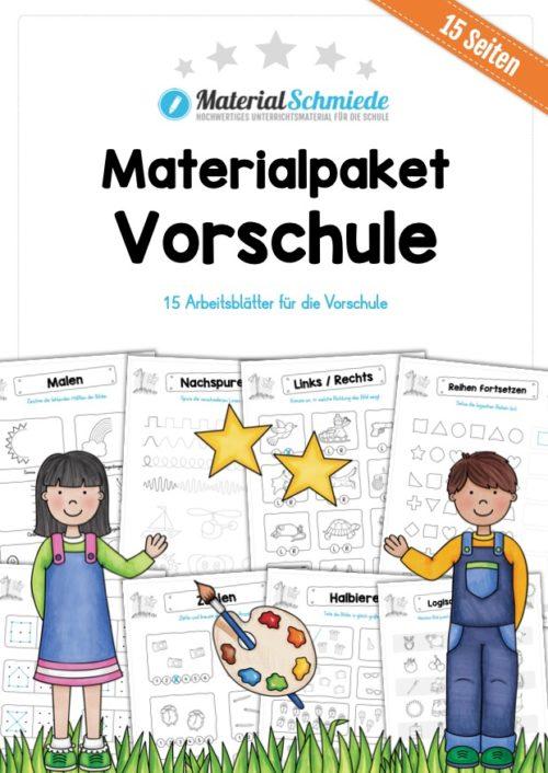 MaterialPaket Vorschule - 15 Übungen für Kinder