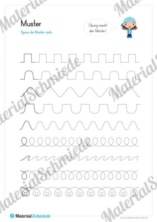 Materialpaket Schwungübungen - 20 Seiten (Vorschau 02)