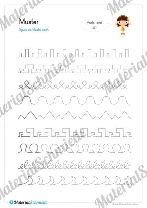 Materialpaket Schwungübungen - 20 Seiten (Vorschau 03)
