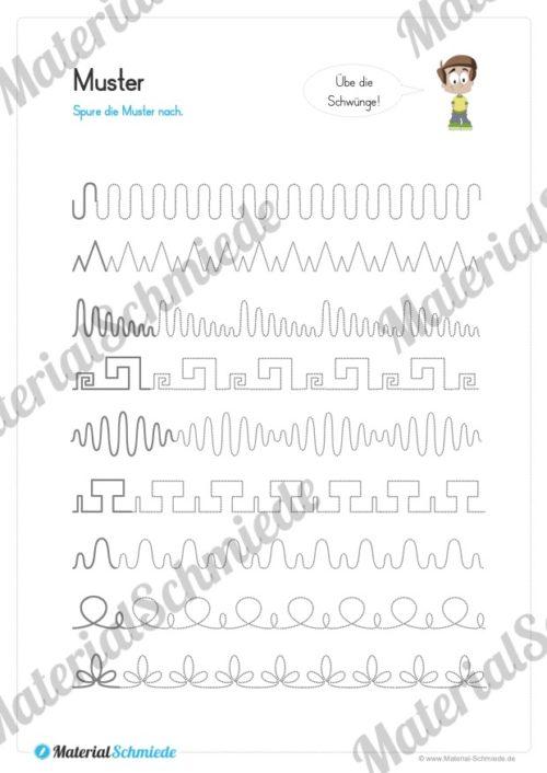 Materialpaket Schwungübungen - 20 Seiten (Vorschau 04)