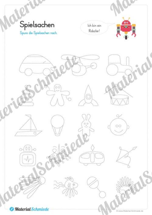 Materialpaket Schwungübungen - 20 Seiten (Vorschau 06)